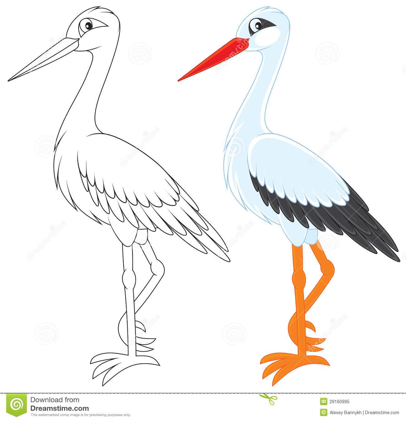 Stork Royalty Free Stock Photo.