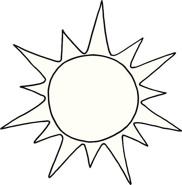 51 Sun Black And White free clipart.