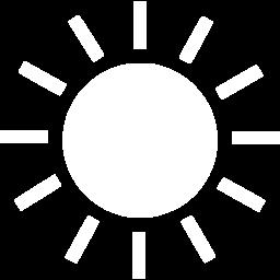 White sun 2 icon.