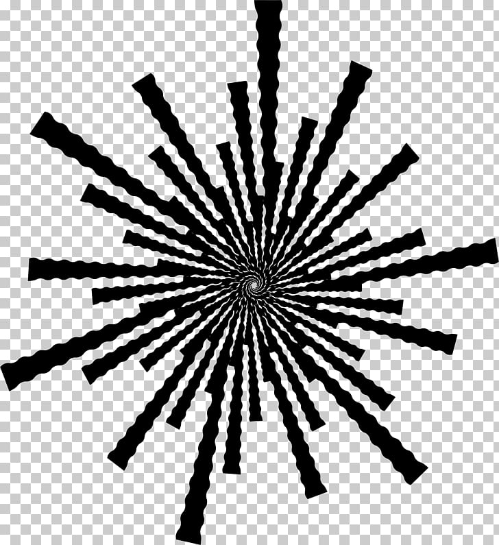Black and white , sunburst PNG clipart.