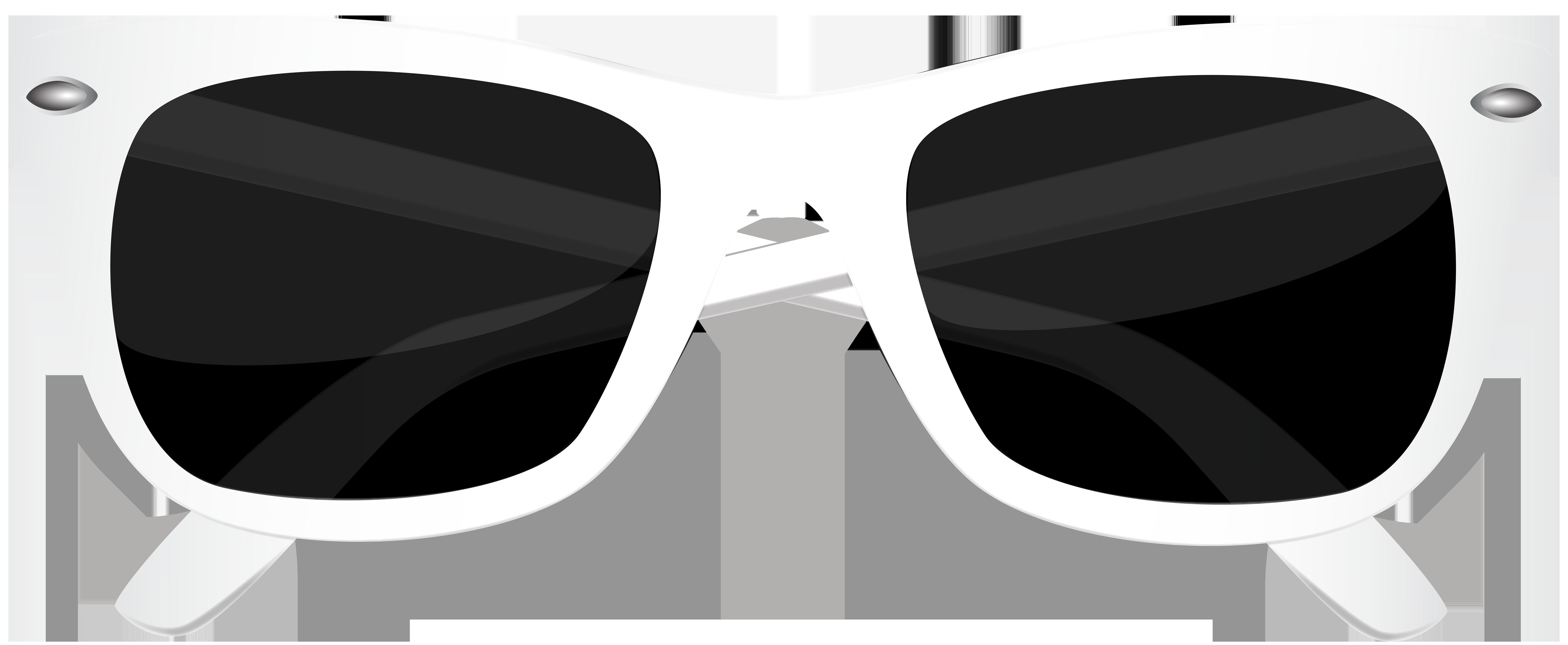 White Sunglasses PNG Clip Art Image.