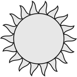 No Sun Clipart Black And White.
