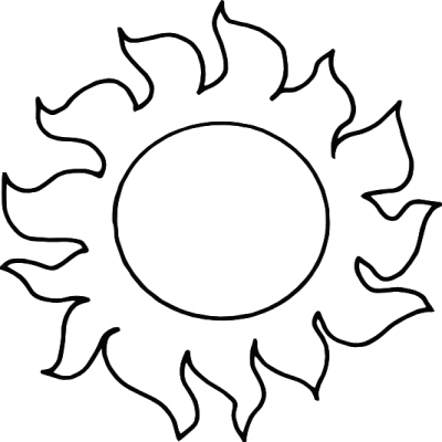 Sunlight Clipart Black And White.