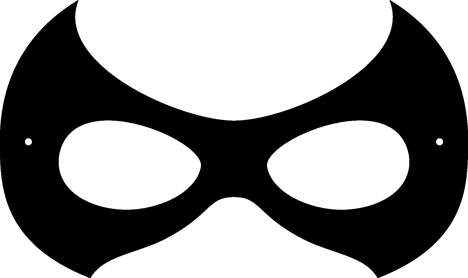 Super Hero Masks Clipart.
