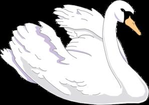 White Swan Clipart.