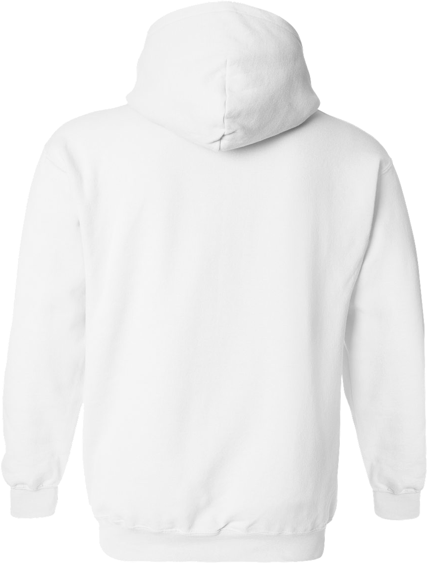 HD Gildan White Hoodie Back Transparent PNG Image Download.