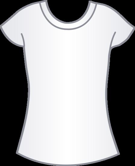Womens White T Shirt Template.
