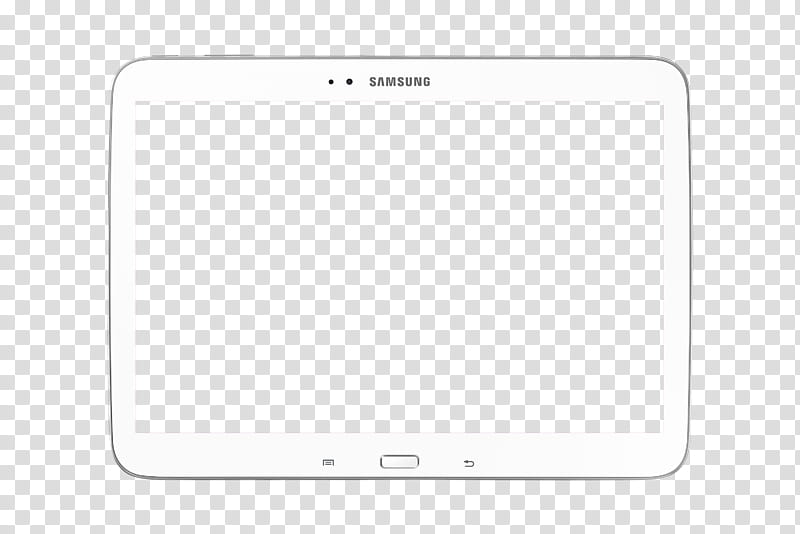 White tablet computer illustration transparent background.