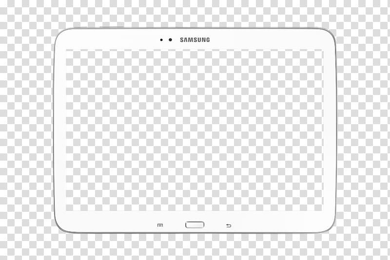 White tablet computer illustration transparent background.
