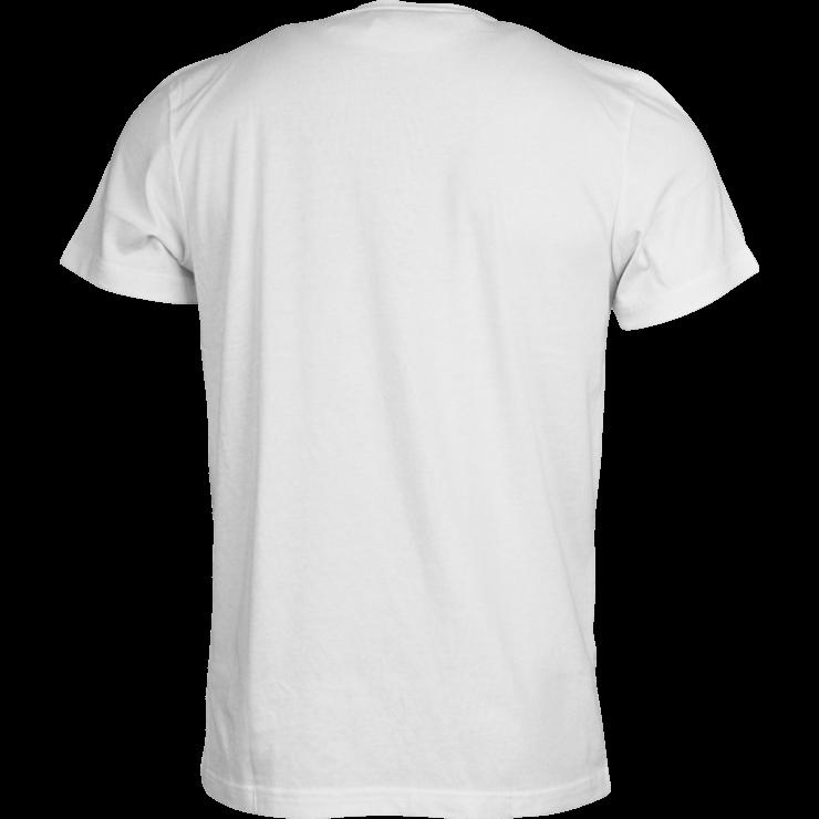 Tshirt White Back transparent PNG.