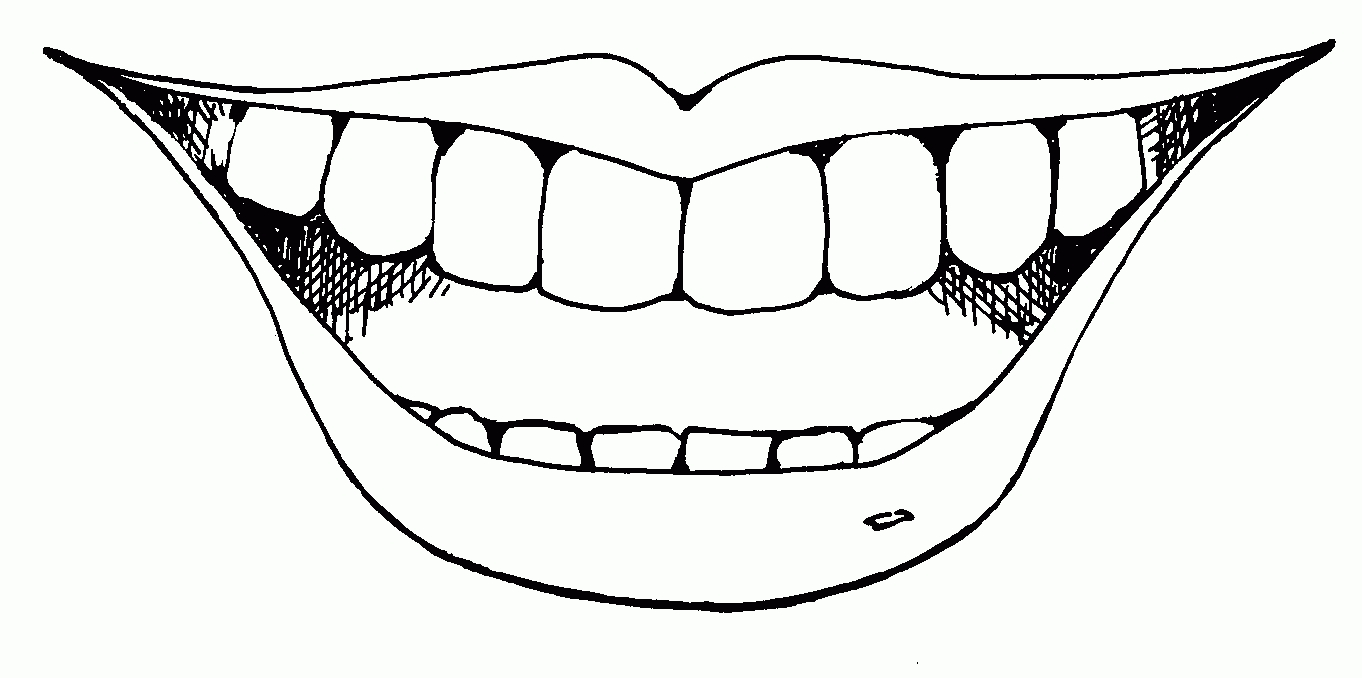 Tooth Smile Cliparts.