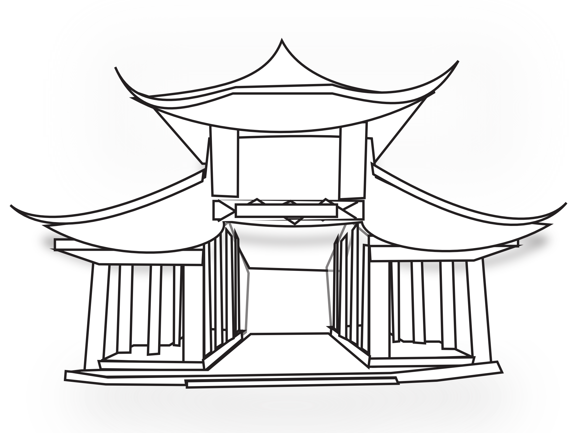 2020 Other Images Hindu Temple Clipart Black And White