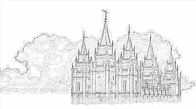 Black And White Lds Temple Clipart.