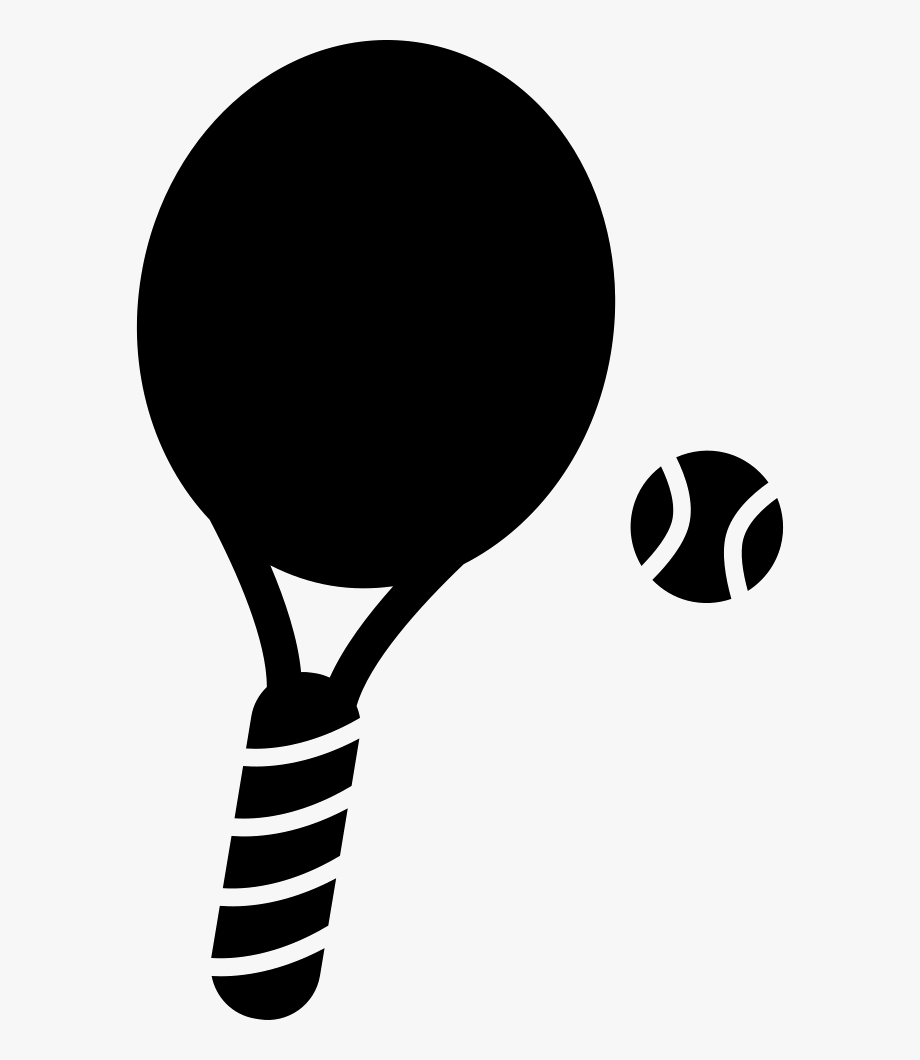 Padel Tennis Racquet Clipart Black And White Png.