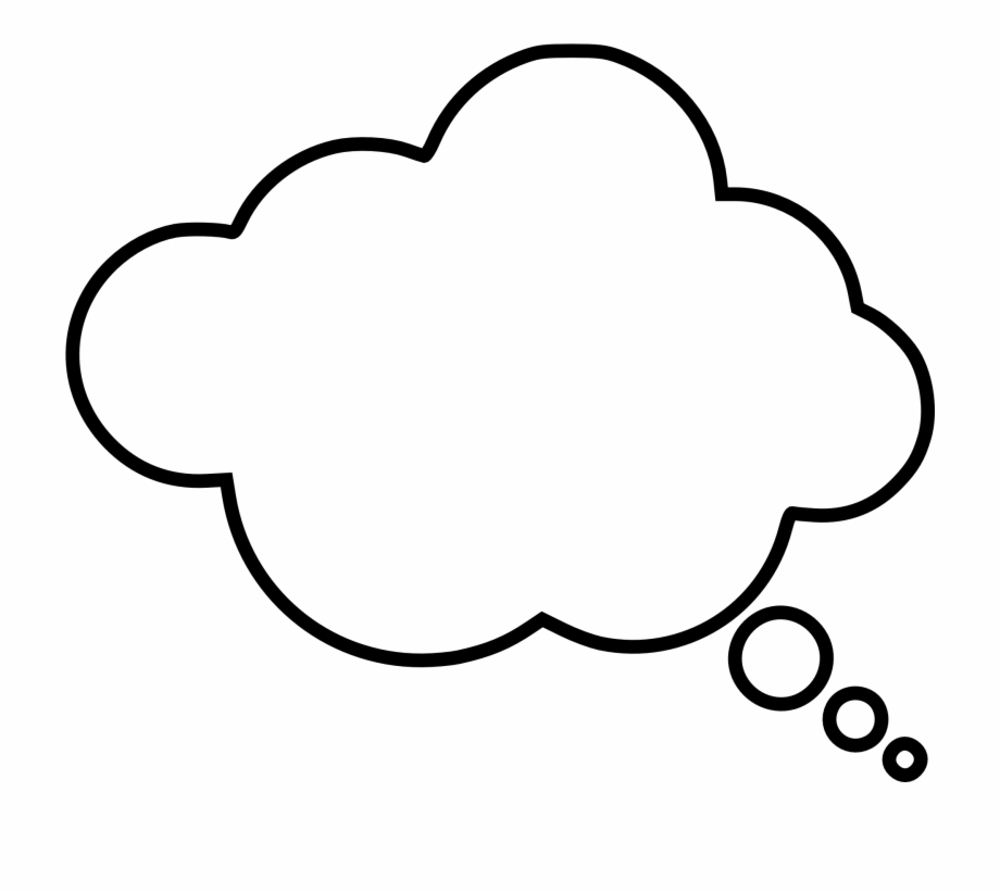 White Thinking Bubble Free PNG Images & Clipart Download #1179689.