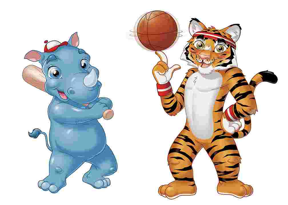 Best Cliparts: Tiger Playing Sports Clipart Black Clipart.