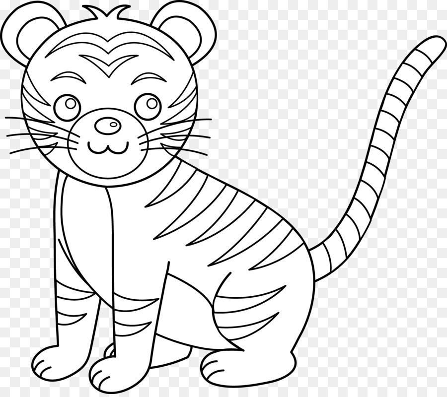 white tiger tail clipart #3