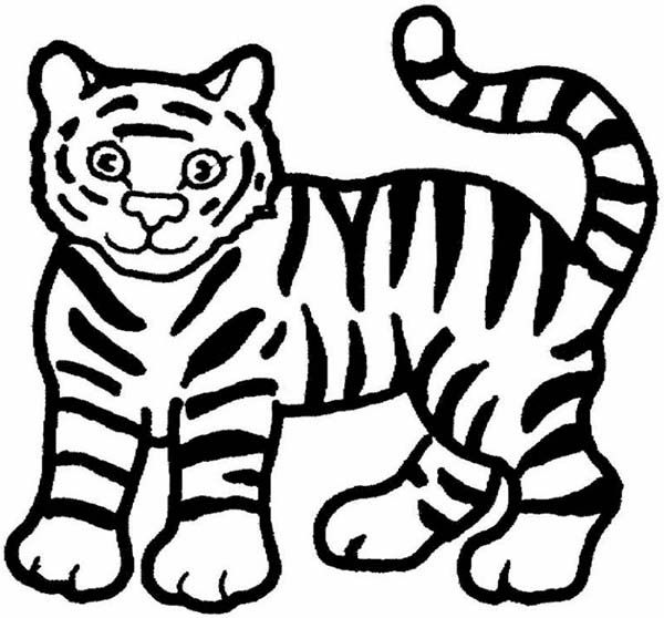 white tiger tail clipart #4