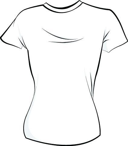 Girl T Shirt Clipart.