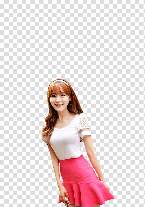 Ulzzang Girl, woman wearing white top transparent background.