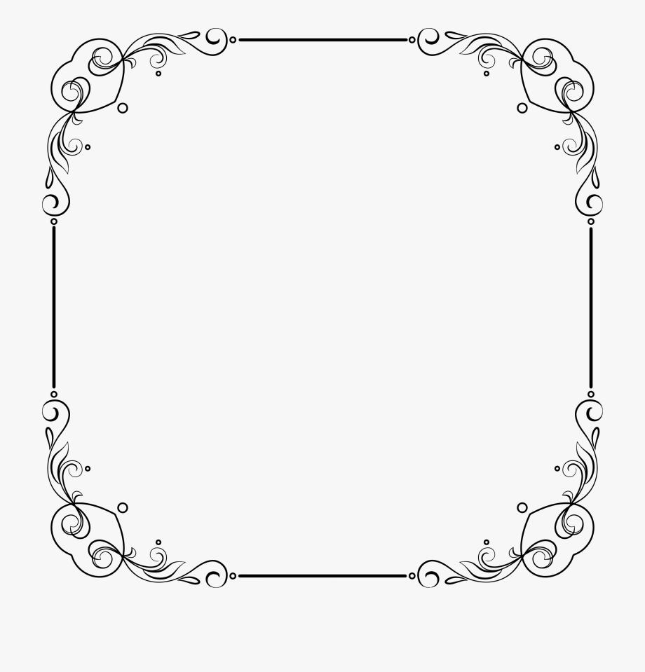 Flourish Frame Clipart.