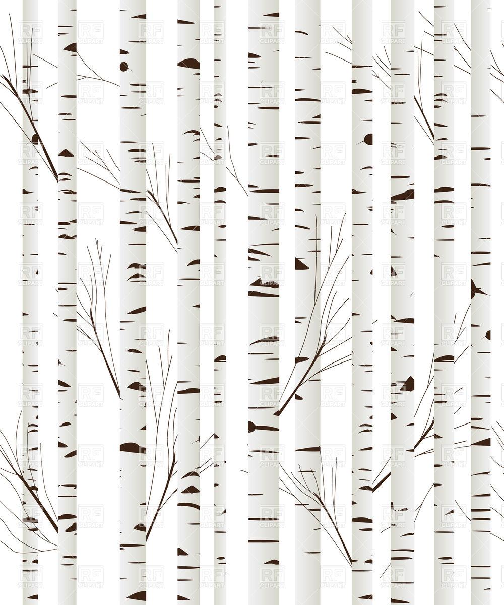 Birch tree bark clipart.