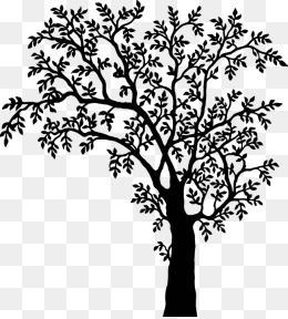 Black And White Tree Clipart Png.