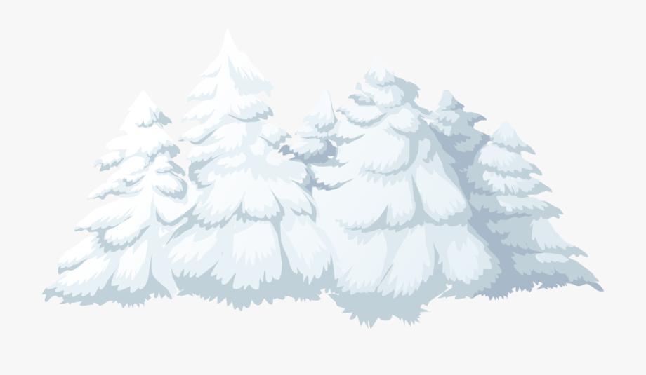 Pine Tree Clipart Winter Landscape.