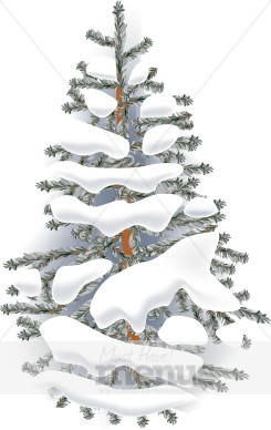 Pine Trees With Snow Clipart.