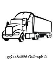 Black And White Truck Clip Art.