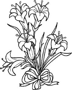 Easter Lilies Drawing.