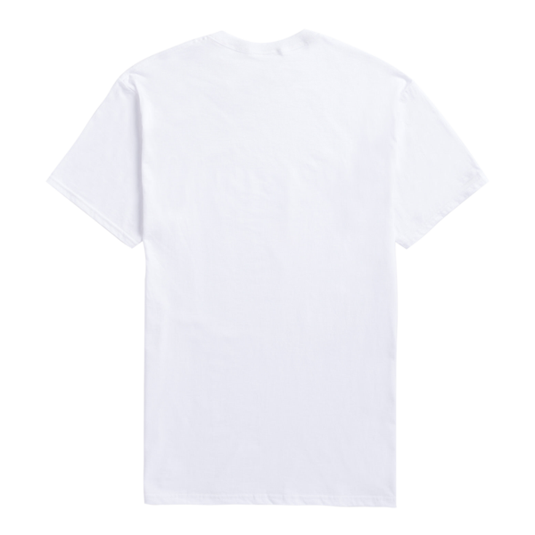 WHITE TEE WITH MULTICOLOR DESIGN.