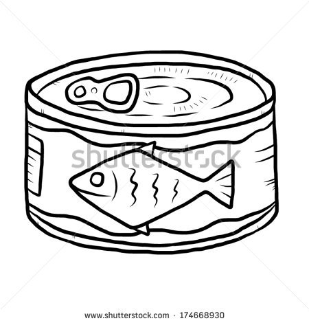 Tuna Can Clipart.
