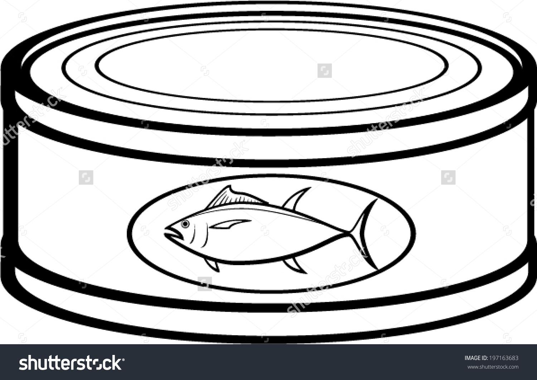 Tuna Can Clipart.