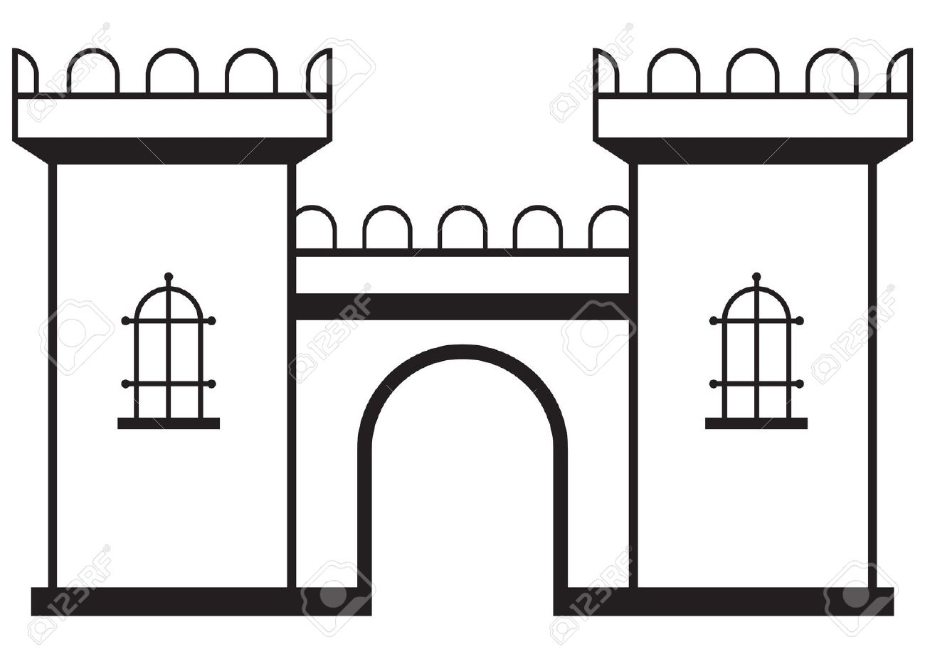 Free Castle Clipart Black And White, Download Free Clip Art.