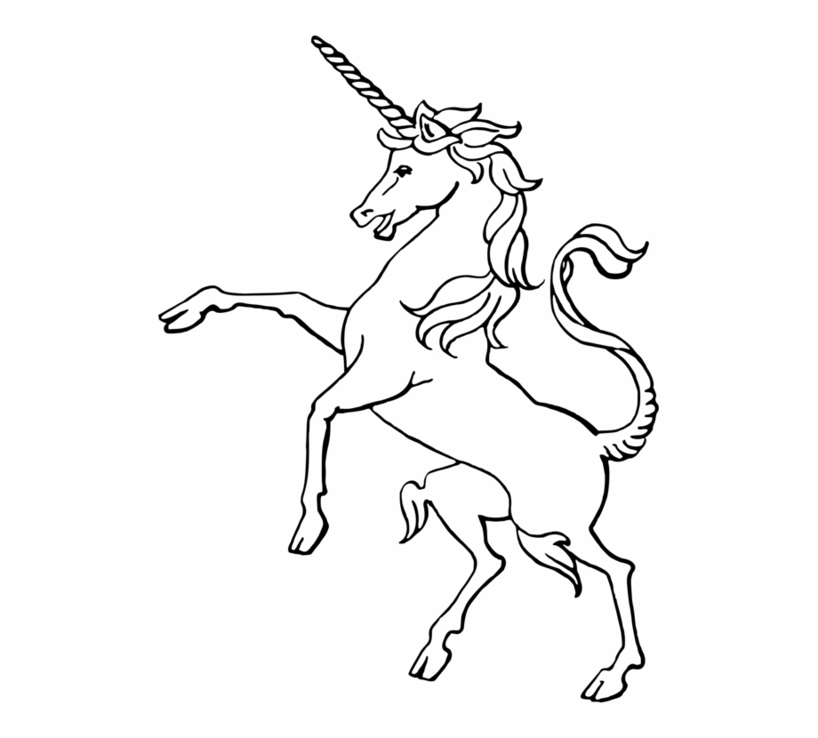 Free Black And White Unicorn Clipart, Download Free Clip Art.