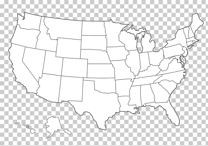 United States Blank map Black and white , Firstclass Warwick.