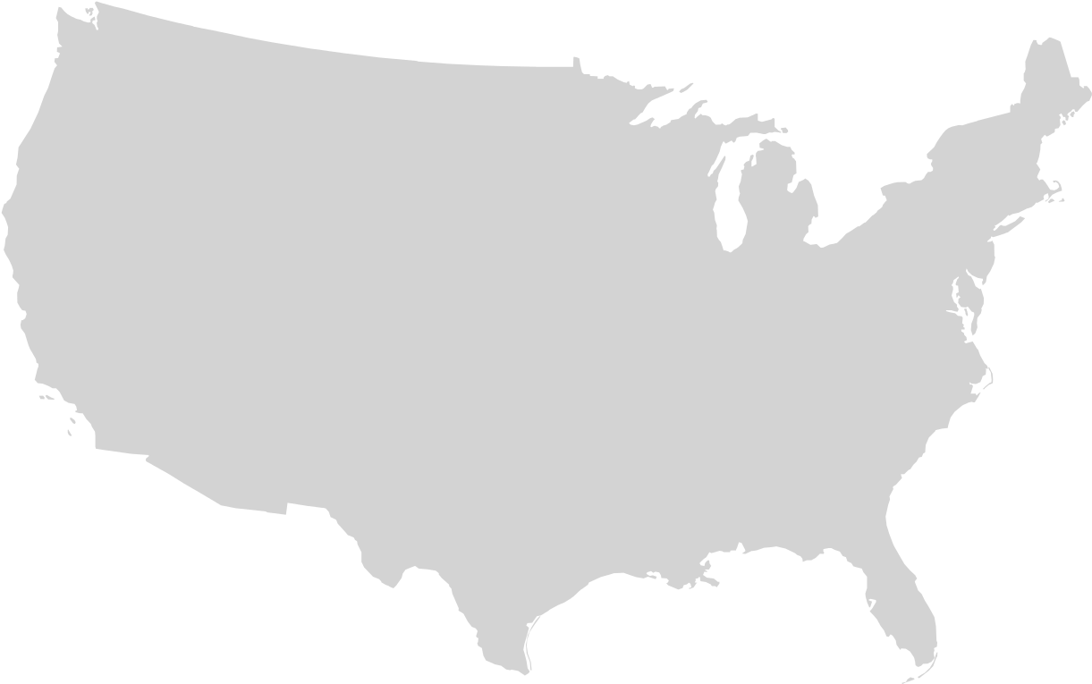HD Blank Us Map, Mainland With No States.