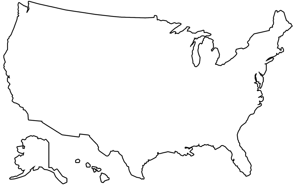 Png Of United States Map Outline & Free Of United States Map Outline.