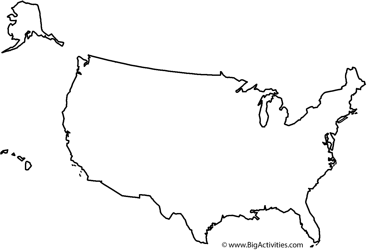 PNG Usa Outline Transparent Usa Outline.PNG Images..