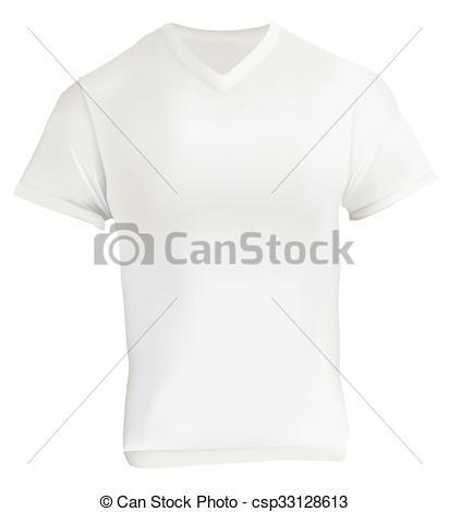 Vector Clip Art of White V.