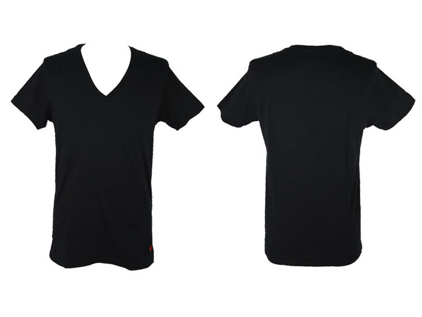 V Neck T Shirts Front And Back.