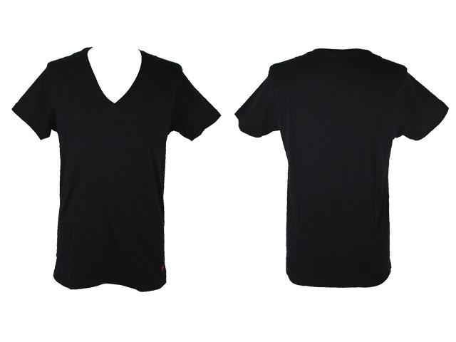 Plain White V Neck T Shirt.