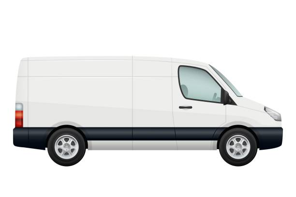 Best White Van Illustrations, Royalty.