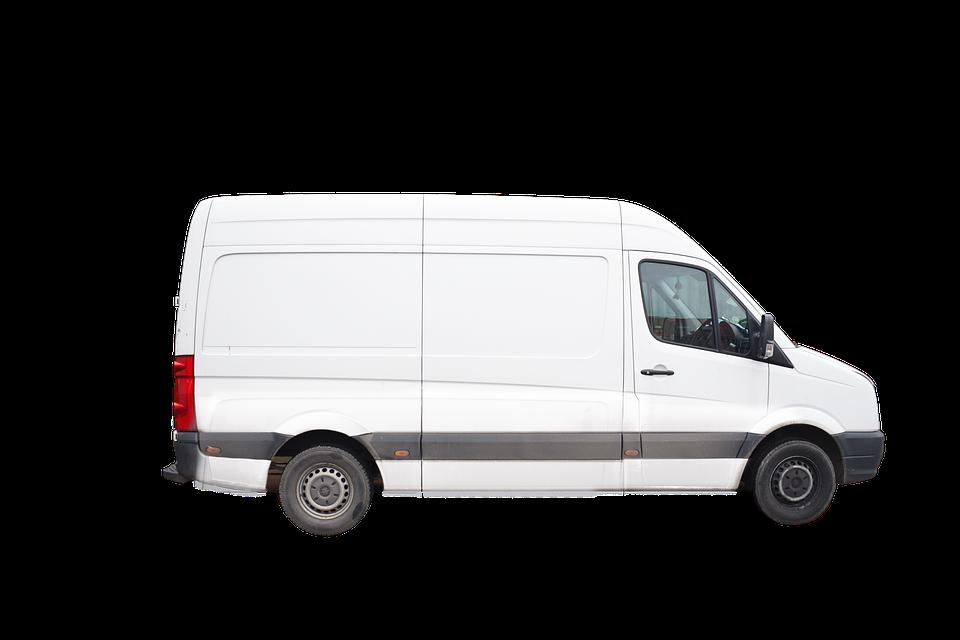 Van Delivery Vehicle White.