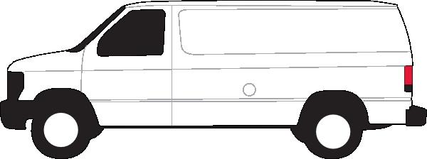 White Van Clipart.