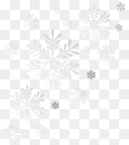 White Snowflake PNG Images.