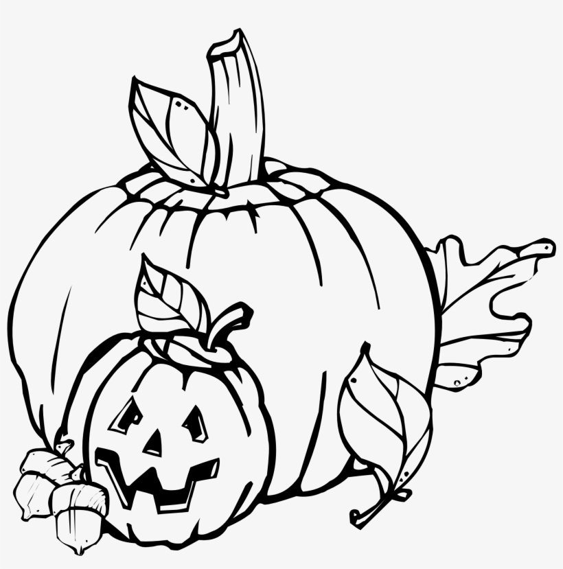 Free Vector Pumpkins Black And White Clip Art.