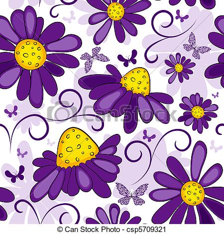 Vector Clip Art of Floral seamless white.