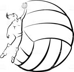 Image result for free volleyball clipart black and white.